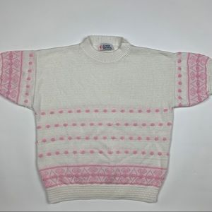 Vintage 80,90s  Pullover Short Sleeve Sweater